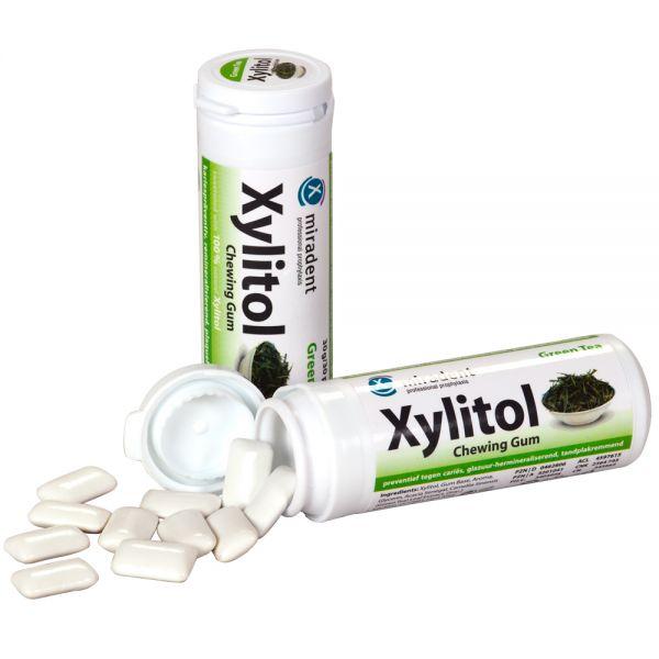 miradent Xylit-Kaugummi (30 g), Grüner Tee