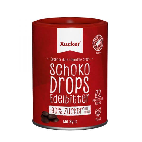 Vegane Schoko-Drops Edelbitter mit Xylit, klein