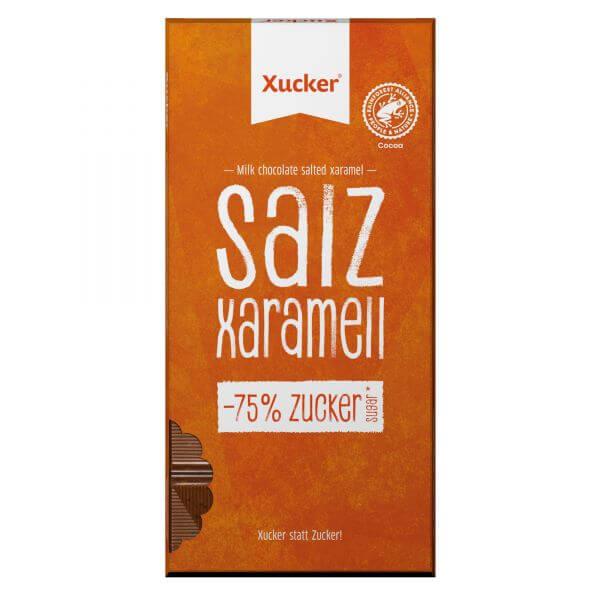Xylit-Schokolade Vollmilch mit Salz-Xaramell
