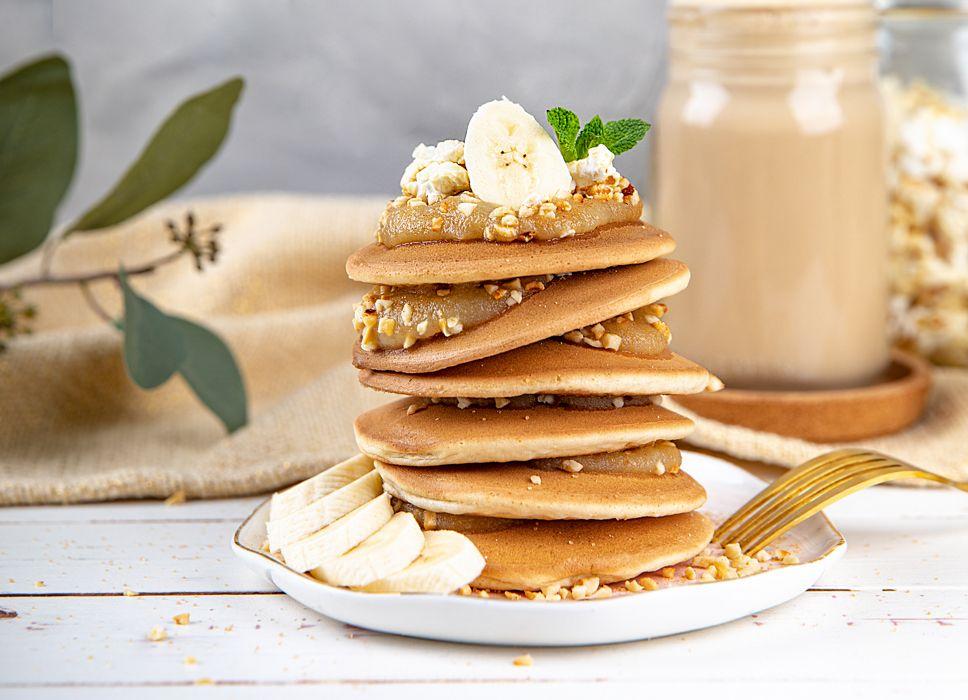 Vegane-Pancakes-Mit-Apfelmus-und-Zimt