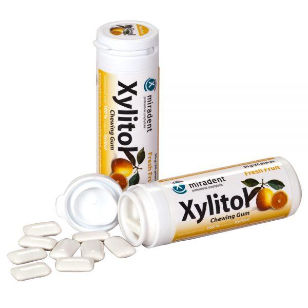 miradent Xylit-Kaugummi (30 g), Frucht