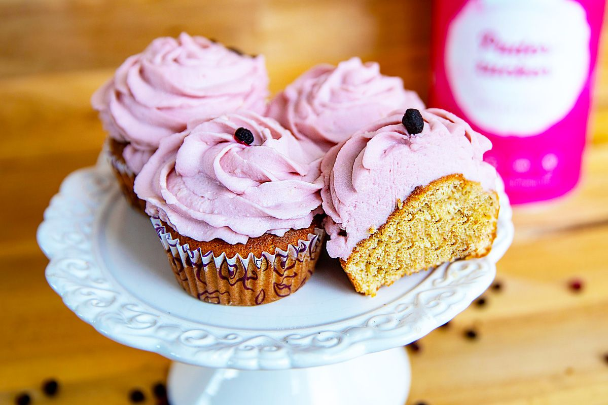 Cupcakes-mit-Acai-Frosting