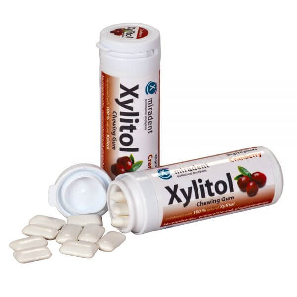 miradent Xylit-Kaugummi Cranberry
