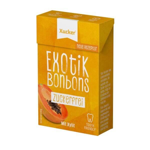 Xylit-Bonbons Exotik Klickschachtel (ohne Talkum)