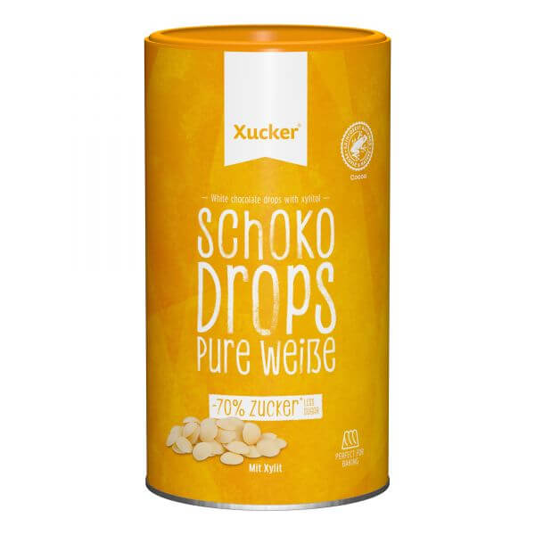 Weiße Schoko-Drops mit Xylit, groß