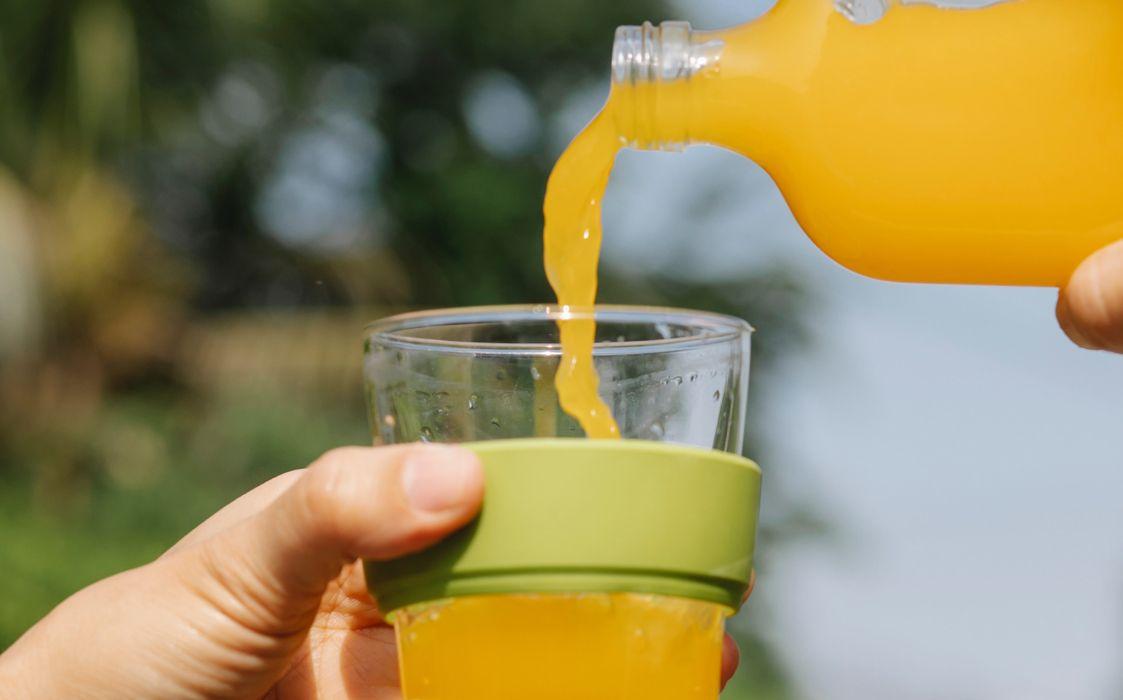 Orangen-Iso-Drink