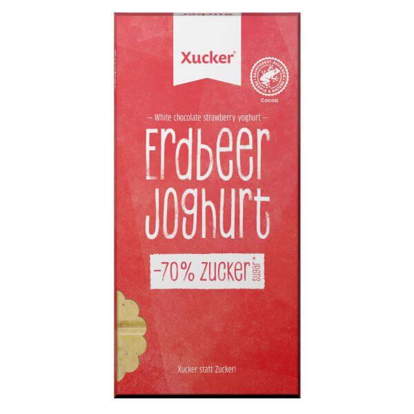 Weiße Xylit-Schokolade Erdbeer-Joghurt