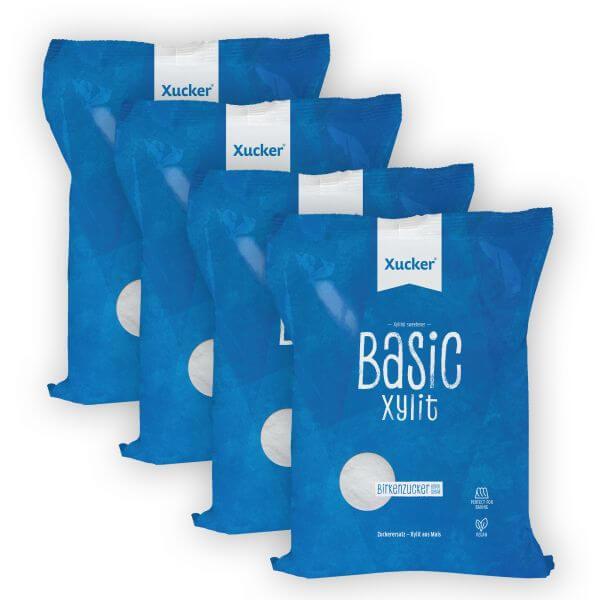 Xucker Basic Xylit Beutel 4er-Set