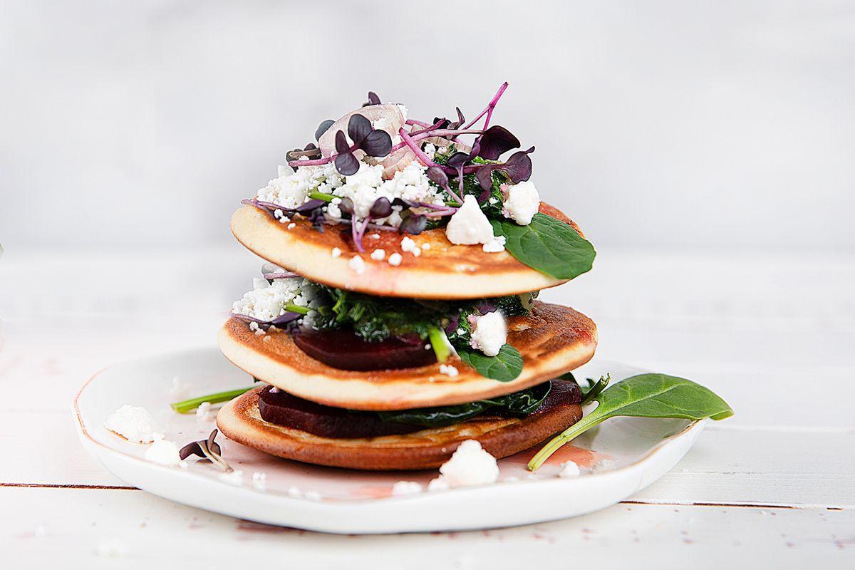 Herzhafte-Pancakes
