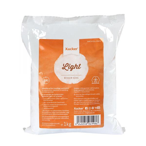Xucker Light (Erythrit) Nachfüllpack, 1 kg