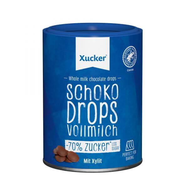 Schoko-Drops Vollmilch mit Xylit, klein