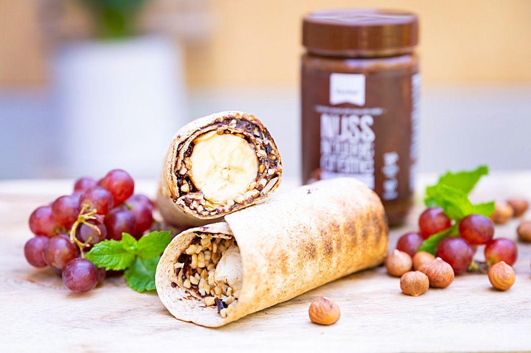 Nuss-Nougat-Bananen-Wrap-vom-Grill