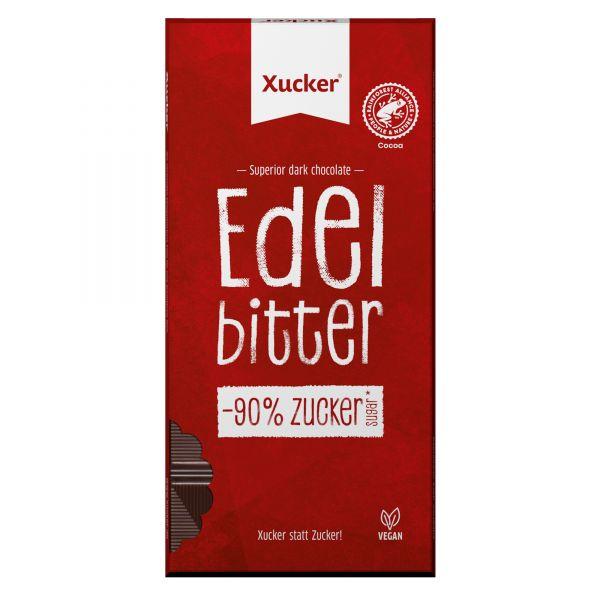Vegane Edelbitter-Schokolade mit Xylit (75 % Kakao)