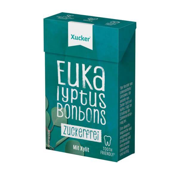 Xylit-Bonbons Eukalyptus Klickschachtel (ohne Talkum)