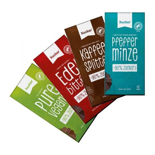 Schokoladen 4er-Set Vegan-Mix