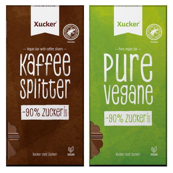 Vegane Schokoladen 2er-Set (Pure & Kaffeesplitter)