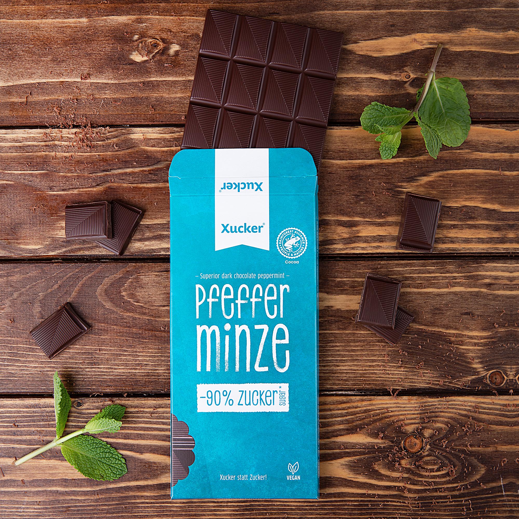 Schokolade-Pfefferminze